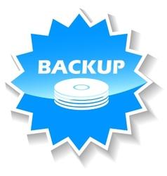 Backup blue icon vector image