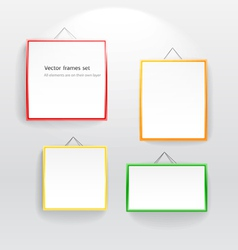 Blank color boards different sizes on wall vector image vector image