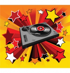 disco player star vector image vector image