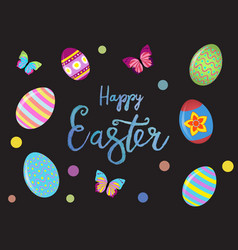 Easter banner background template with beautiful vector