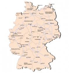 Germany railway map vector image