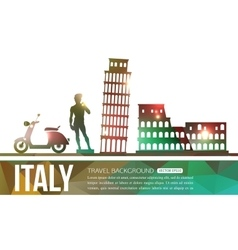 Italy travel background with place for text vector image