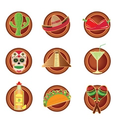 Mexico icon in Mexico style vector image