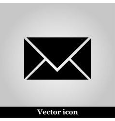 postal envelope sign on grey background vector image vector image