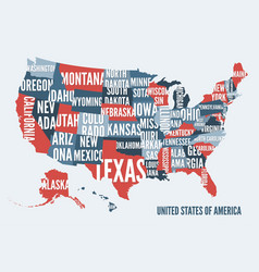 United states of america map print poster desig vector