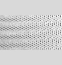 3d abstract cellular hexagonal white wall back vector