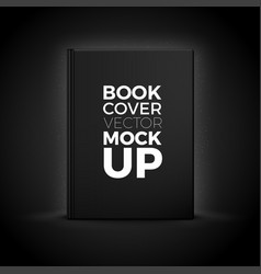 3d realistic book cover isolated on black vector