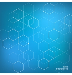 Abstract background technology hexagon vector