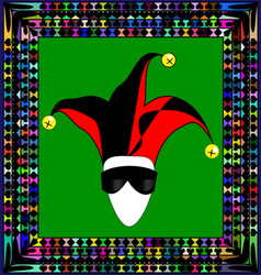 Abstract ornament and mask jester vector
