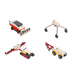Agriculture automation smart farming trucks vector