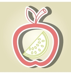 apple fruit with watermelon isolated icon design vector image