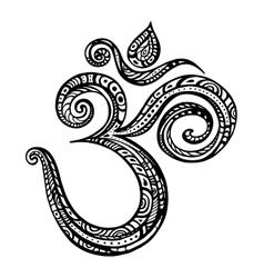 Aum om symbol vector