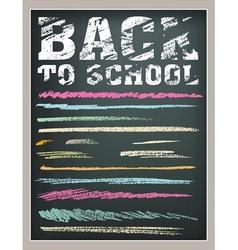 Back to School strokes vector image
