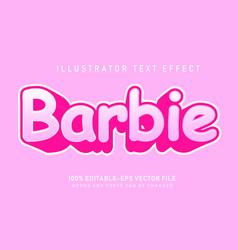 barbie text effect vector image