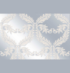Baroque pattern glossy background vintage vector