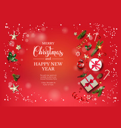 bright red holiday vector image