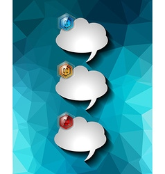 Bubble Speech Infographic Layout Template for data vector
