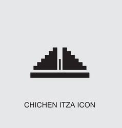 Chichen itza icon vector
