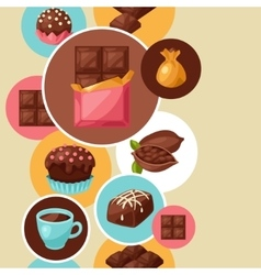 Chocolate seamless pattern with various tasty vector