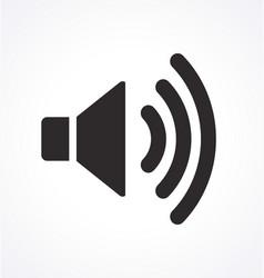 Classic audio speaker icon max volume vector