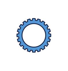Cog wheel concept blue icon vector