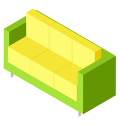 colorful couch or sofa isometric furniture vector image
