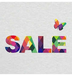 Colorful Sale Text With Bokeh vector image