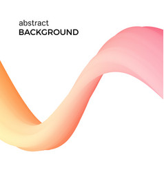 composition of the orange watercolor waves vector image