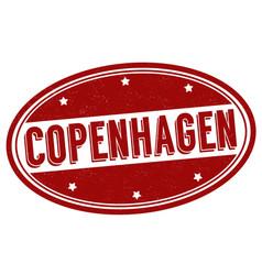 copenhagen grunge rubber stamp vector image