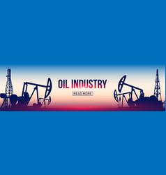 Creative of oil pump industry vector