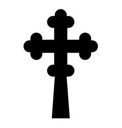 Cross trefoil shamrock on church cupola domical vector