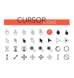 cursor icons - set web elements vector image