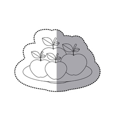 Delicious apples fruits vector image