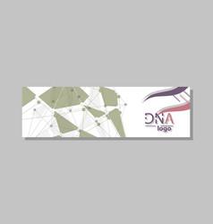 Dna molecule brochure template flyer layout vector