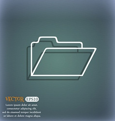 Document folder sign Accounting binder symbol On vector