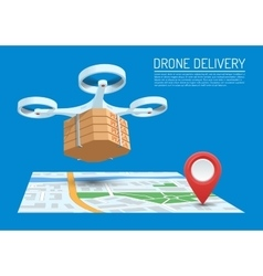 Drone delivery concept vector