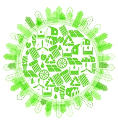 Ecological concept protection planet vector