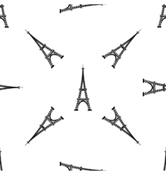 Eiffel tower seamless background french pattern vector