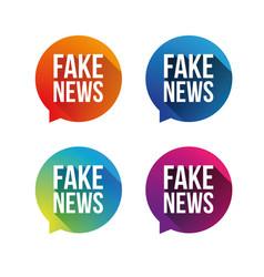 fake news speech bubble set vector image