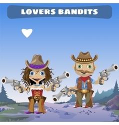 Fictional cartoon character - lovers bandits vector image