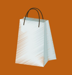 Flat shading style icon paper bags vector
