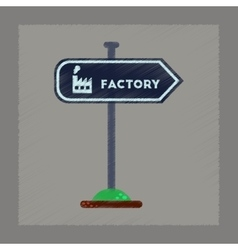 flat shading style icon sign factory vector image