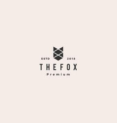 fox logo hipster vintage retro icon vector image