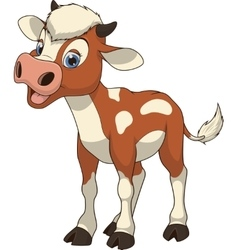 Funny baby cow vector