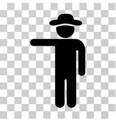 gentleman show icon vector image