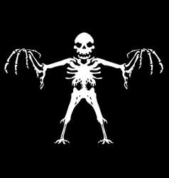 Ghostly halloween nightmare skeleton vector