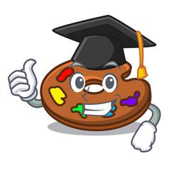 Graduation palette character cartoon style vector