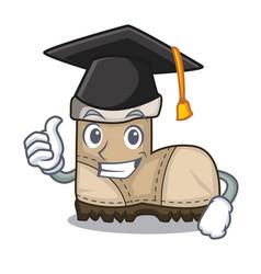 Graduation working boot in shape cartoon beautiful vector