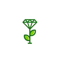 green diamond logo icon design vector image
