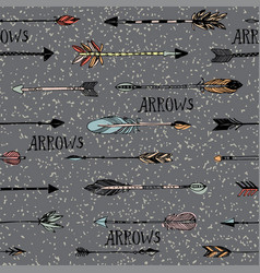 hand drawn arrows patten vector image